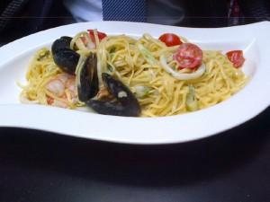 """Spaghetti mit Meeresfrüchten im """"Beluga"""""""