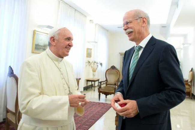 Daimler-Chef Dieter Zetsche beim Papst