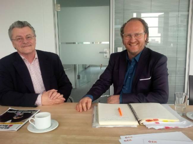 Nameserfinder Manfred Gotta (l.) und Ben Rügen, Xeo