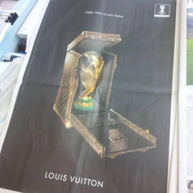 Louis Vuitton schaltete seine Anzeige schon Tage vor dem Endspiel...