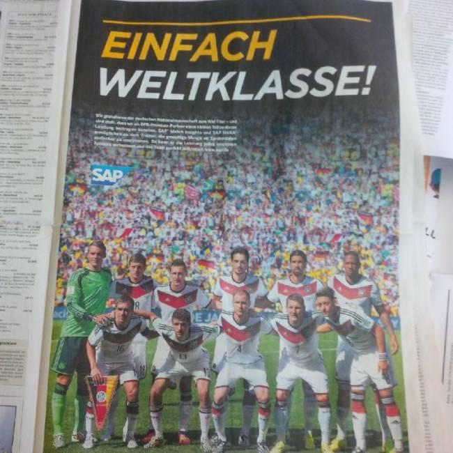 """SAP inserierte """"ganz international"""" in der Süddeutschen Zeitung"""