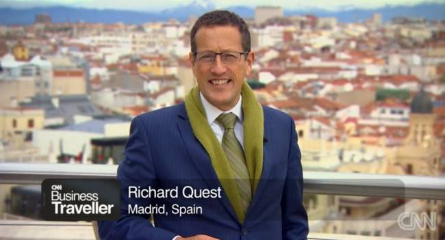Richard Quest in Madrid