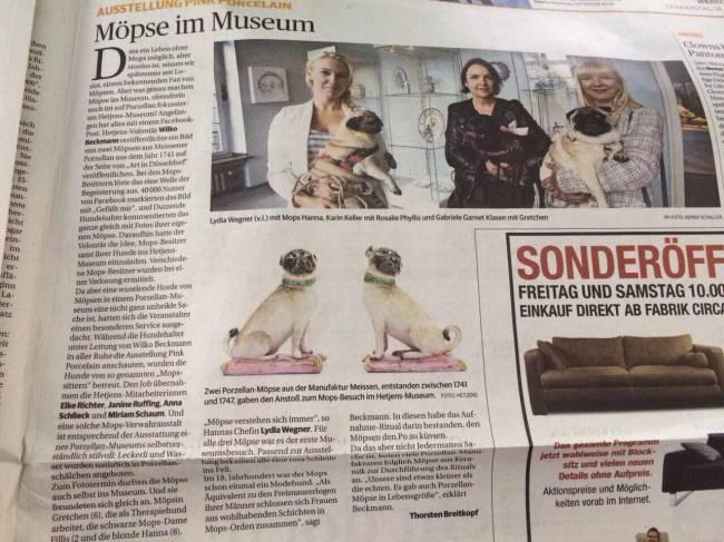 Mopswalk im Hetjens-Museum
