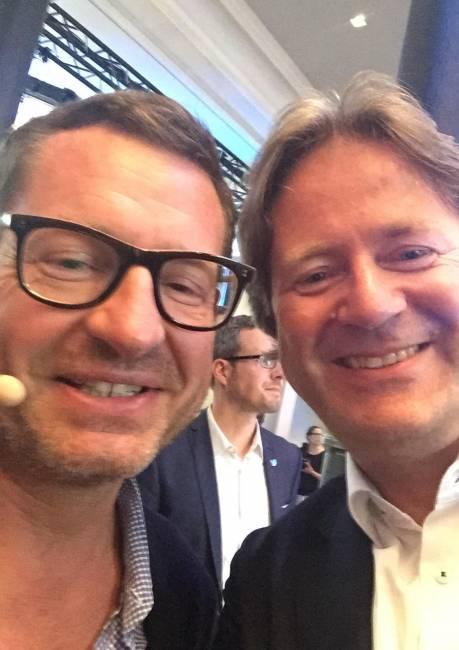 Selfi von Frank Behrendt mit Kai Diekmann