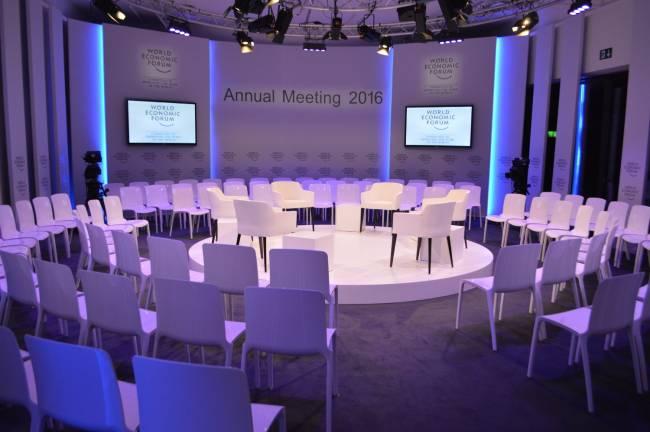 WEF Davos 2016 vor dem großen Ansturm (Foto: CNN International)