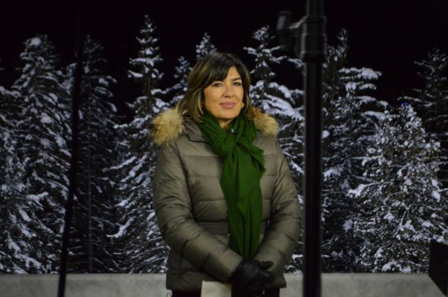 CNN-Moderatorin Christiane Amanpour in beim World Economic Forum 2016 in Davos (Foto: CNN International)