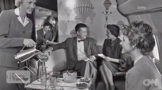 Fliegen als gesellschftliches Ereignis-in den 50er-Jahren (Foto: CNN International)